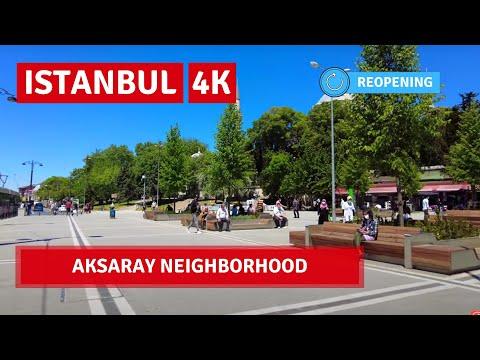 Istanbul City Walking Tour Aksaray Neighborhood |20May 2021|4k UHD 60fps