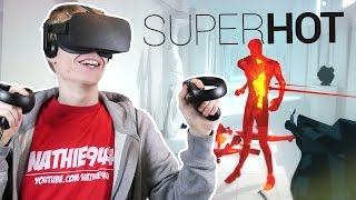 MATRIX BULLET TIME IN VIRTUAL REALITY! | Superhot VR #2 (Oculus Touch Gameplay)