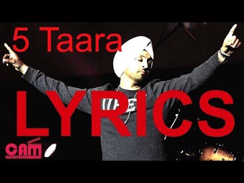 5 Taara (Full Song) - Diljit Dosanjh | LYRICS 2015