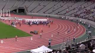 東京国体 少年女子A 400m予選3組 青山聖佳53.58 大会新