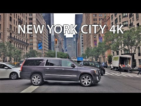 Driving Downtown - NYC's Wealthy Upper East Side 4K - New York USA