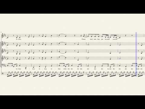 Jolene - Pentatonix & Dolly Parton (Full Sheet Music)