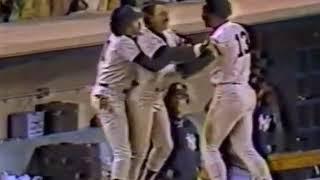 Reggie Jackson and John Denny full AB and fight