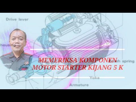 MEMERIKSA KOMPONEN MOTOR STARTER KIJANG 5 K