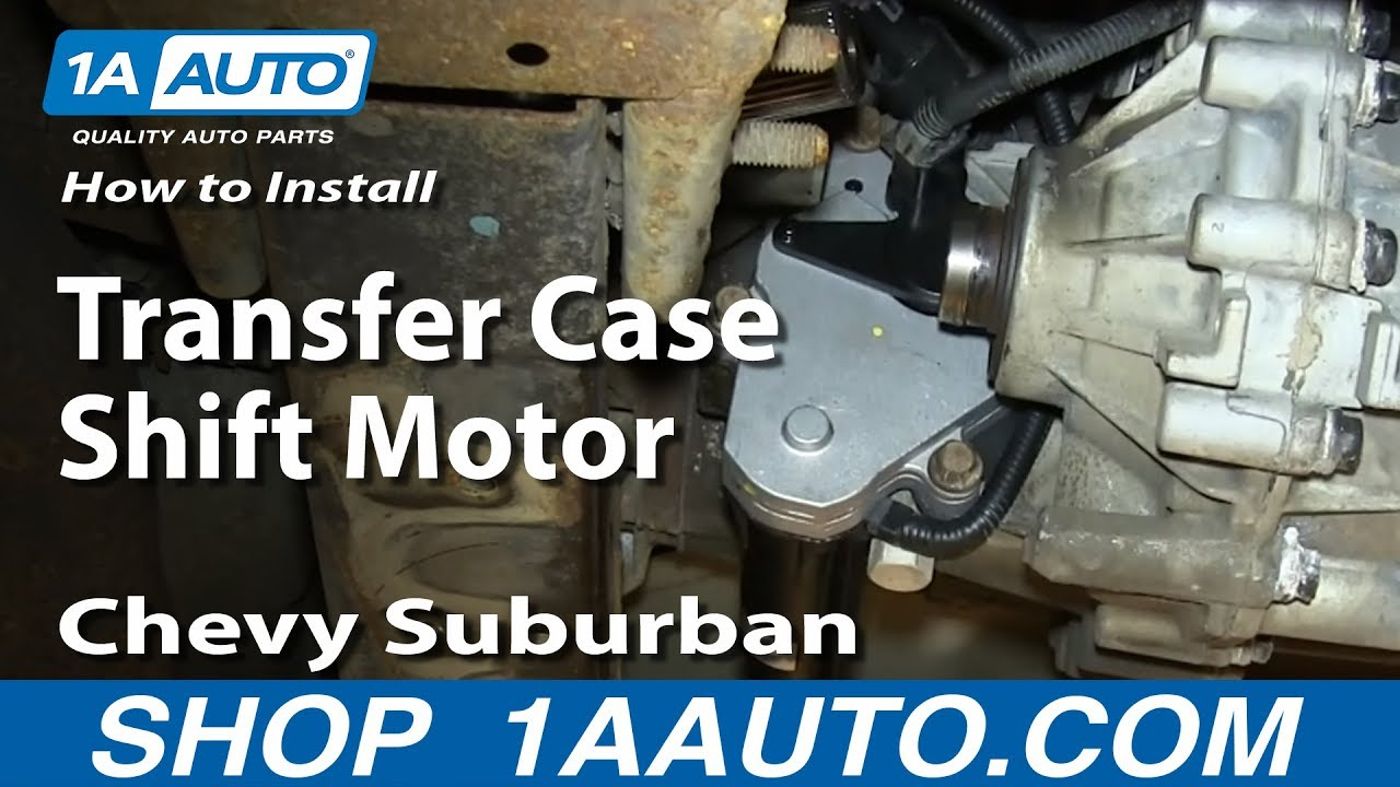 hight resolution of how to install replace transfer case shift motor 2000 06 chevy suburban tahoe gmc yukon youtube