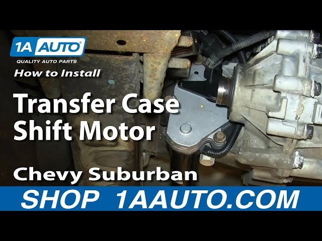 How to Replace Transfer Case Shift Motor 00-02 Chevy ...  Avalanche Transfer Case Wiring Harness on