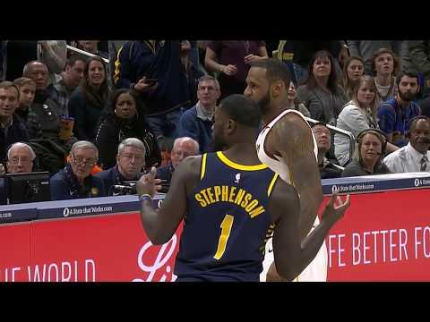 Lance Stephenson provokes LeBron again, he shoves Lance! - Technical Foul
