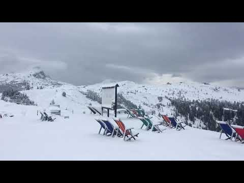 Neve a bassa quota sulle Dolomiti 25 26 agosto 2018