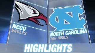 NC Central vs North Carolina | 2014-15 ACC Men