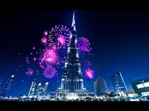 Download New Year's fireworks 2017: Burj Khalifa and Downtown Dubai