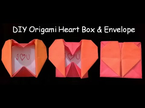 Diy Origami Heart Box Origami Heart Box Envelope With Secret Message Pop Up Heart