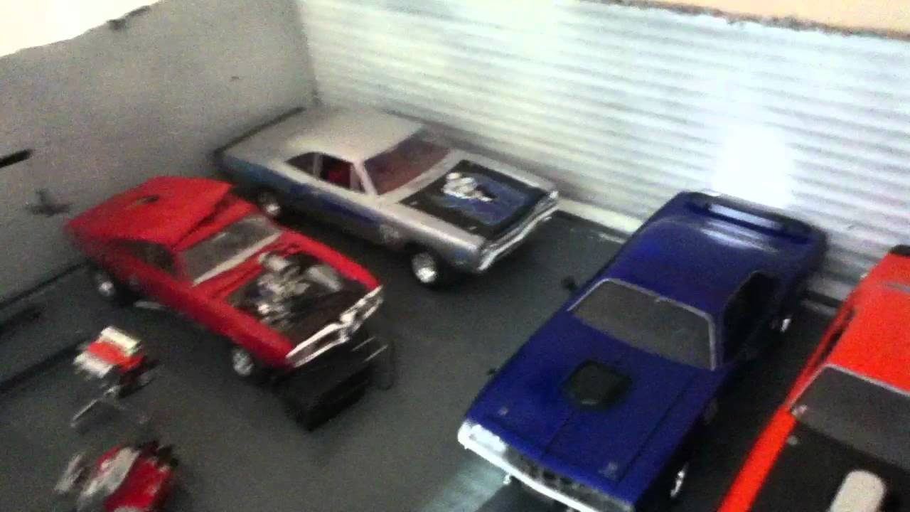 model car garage - YouTube