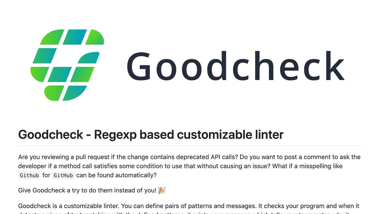 Goodcheck · Sider Documentation