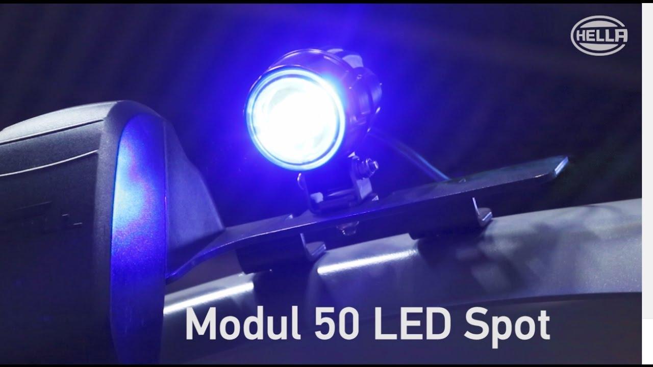 Blue Safety Modul 50 Led Spot Youtube