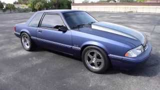 Walk Around & Start 1993 Ford Mustang Notchback Coupe #T305