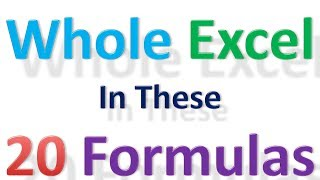 20 Most Used Excel Formulas & Excel Tricks That Can Make Anyone An Excel Expert