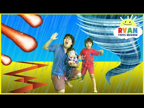 Thumbnail: NATURAL DISASTER SURVIVAL Family Fun Kids Pretend Playtime Ryan ToysReview