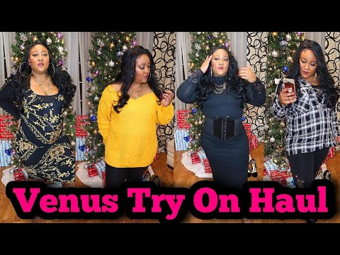 5 Cute Plus Size Outfits For Winter   Try On   Venus Clothing Haul 💋