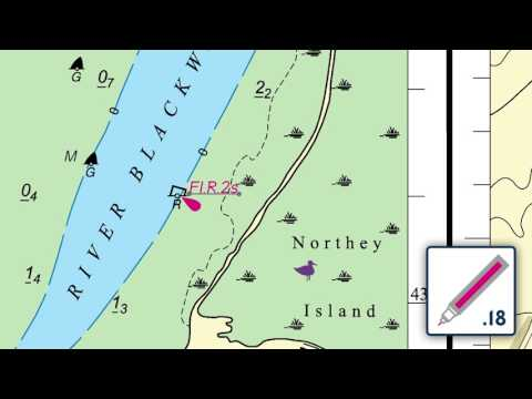 Replacing a buoy and description on an ADMIRALTY Standard Nautical Chart