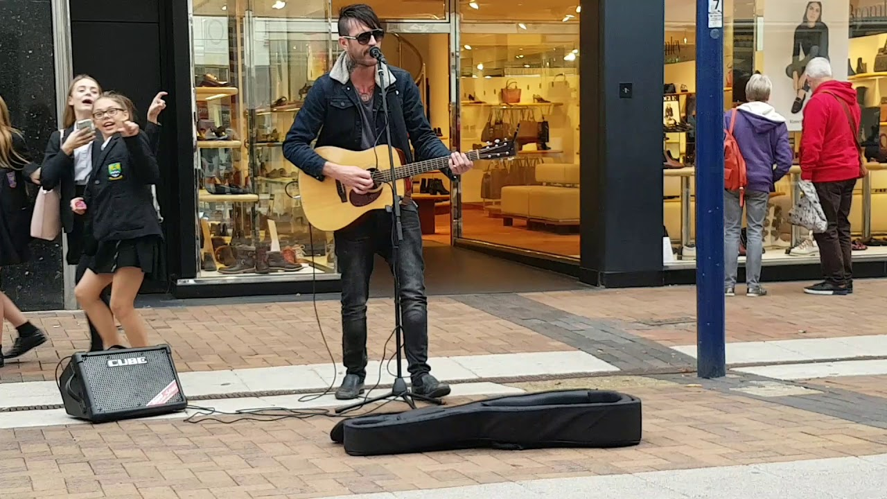 Kingston Busker - Marc Smith (band) covering George Michaels' Faith.