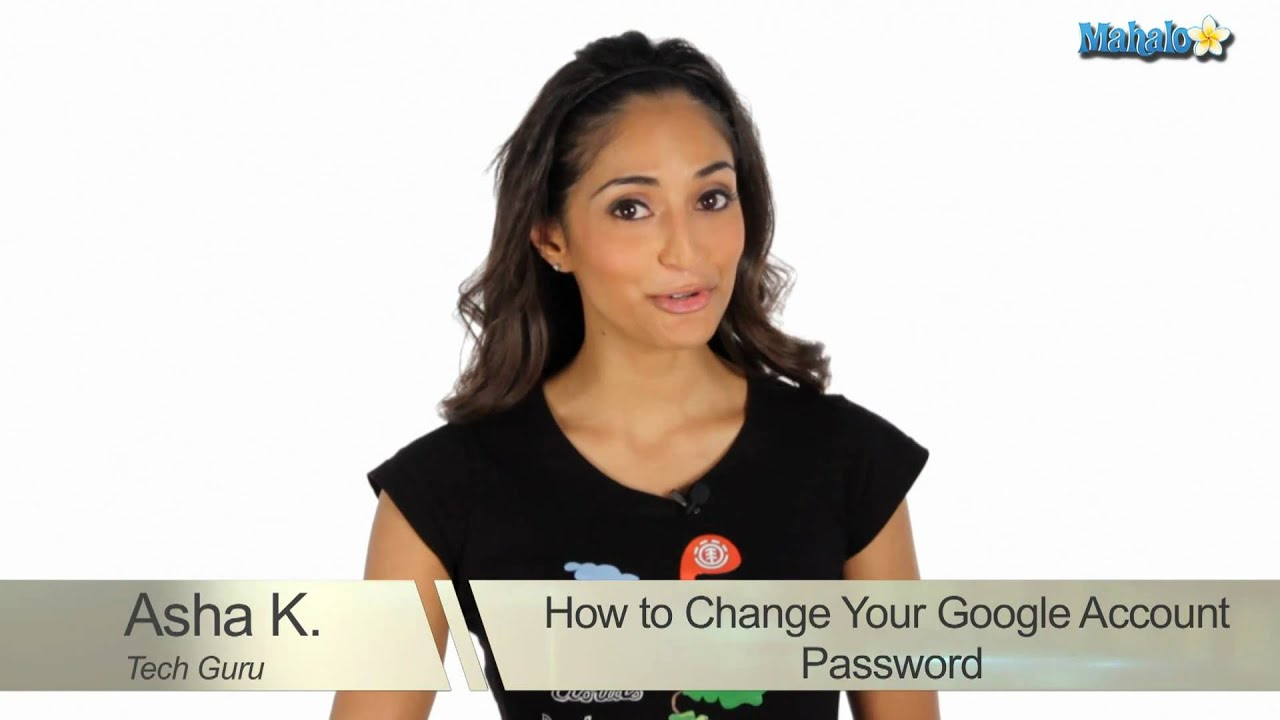 how to change your password on your or gmail account