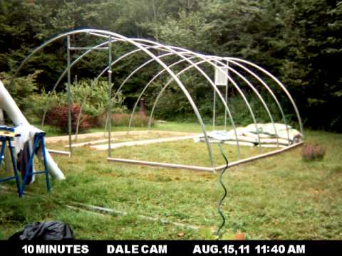 building a hoop house in 55 seconds - 8x10 Hoop House Plans