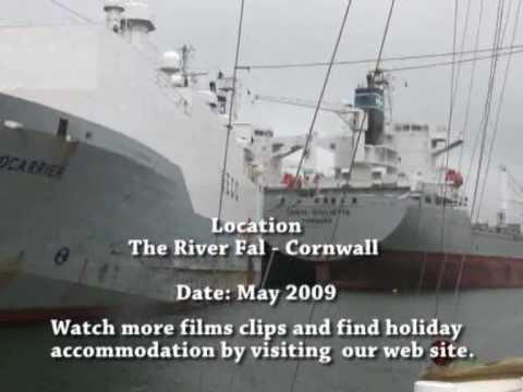 Laid Up shipping Falmouth Cornwall