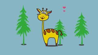 如何画长颈鹿|儿童绘画和颜色|轻松学画|draw giraffe for kids
