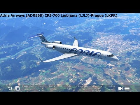 Infinite Flight: Adria Airways (ADR568) CRJ-700 Ljubljana-Prague