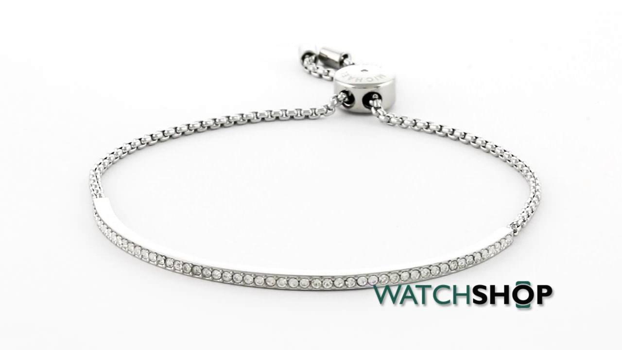 ab0b70c29754 Michael Kors Jewellery Ladies' PVD Silver Plated Brilliance Bracelet  (MKJ4131040)