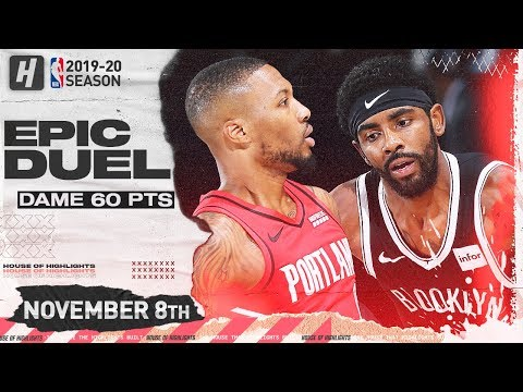 Damian Lillard vs Kyrie Irving EPIC Duel Highlights (2019.11.08) - 60 Points for Dame, 33 for Kyrie!