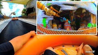 [4K] Raft Water Slide Ride - Miss Adventure Falls ...