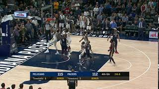 DeMarcus Cousins tips in Jrue Holiday
