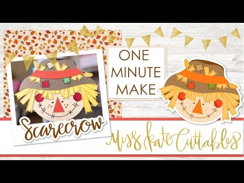 One Minute Make - Scarecrow Layered SVG How To DIY Tutorial With FREE SVG Files