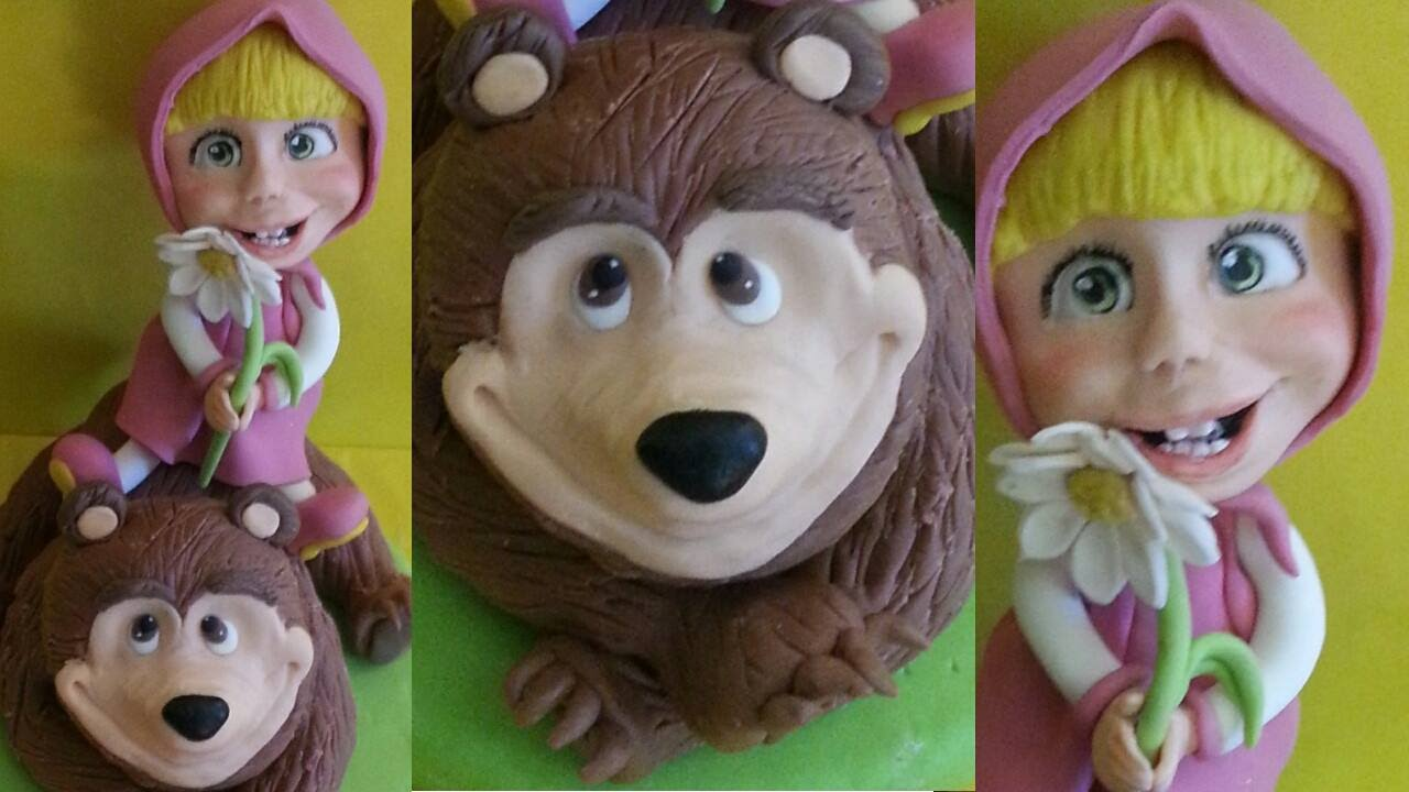 Exceptionnel Tutorial Masha e l'orso - Masha and the bear cake topper fondant  NE39