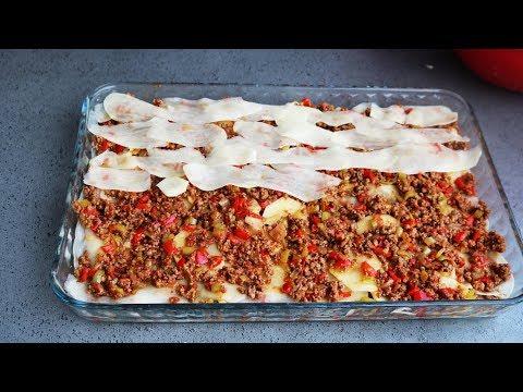 Bu yemek şu ana kadar yapılan en güzel ve en lezzetli fırında patates lazanya yemeği-Yemek tarifleri