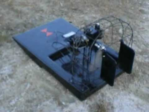Black widow RC AIRBOAT 46cc homelite chainsaw engine - YouTube