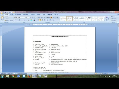 Cara Membuat Daftar Riwayat Hidup atau CV.