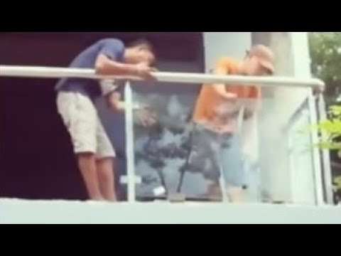 Building a house in Southern Leyte Philippines Part 27. Stainless & Glass balustrade
