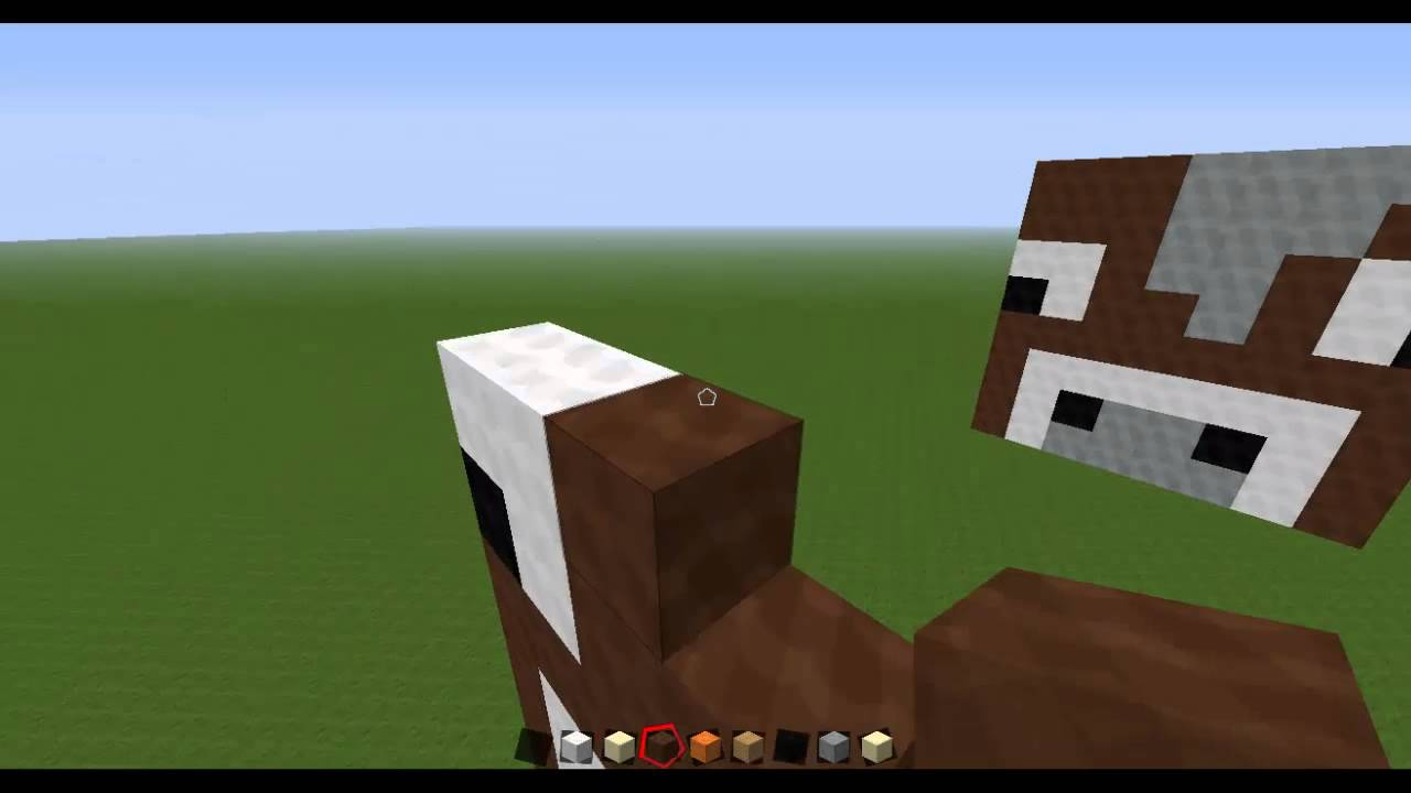 Cow Face Minecraft