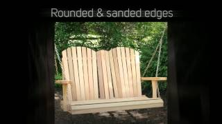Creekvine Designs Adirondack 4ft. Red Cedar Porch Swing