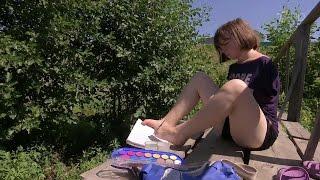 В Ульяновской области живет юная художница, рисующая необычным способом.