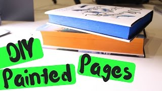 DIY | EDGE PAINTING YOUR BOOKS