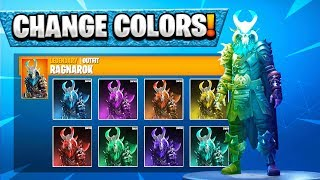 "How To Change Colors on ""RAGNAROK"" SKIN! Season 5 Tier 100 Skin Customization! (Fortnite Ragnarok)"