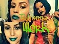 RIHANNA - Work Ft. Drake Inspired Make Up Tutorial | Make Rihanna - Work inspiração♡😻💞