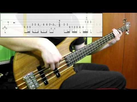 Radiohead - Paranoid Android (Bass Cover) (Play Along Tabs In Video)