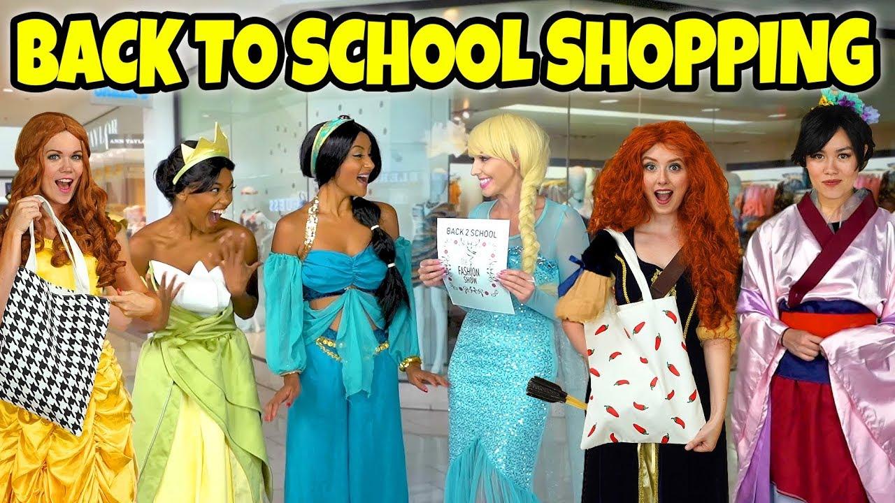 Disney Princesses Back To School Shopping We Go Clothes