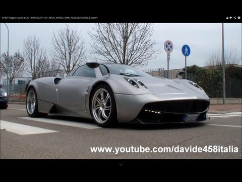 EPIC!! Pagani Huayra In ACTION!! START UP, REVS, WHEEL SPIN, ACCELERATION & More!!!
