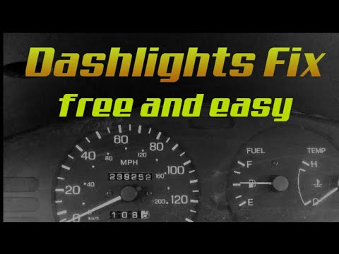 Flickering Dash Lights. Easy DIY Fix