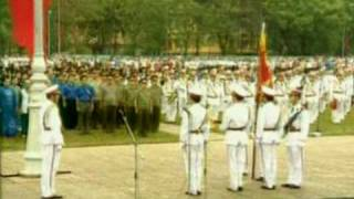 National anthem of Vietnam shown on VTV1 each morning
